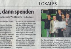 20141105 Stadtspiegel - Erst gucken, dann spenden